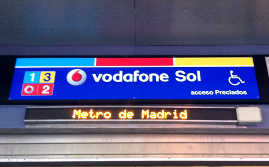 vodafone ad, Plaza del sol, Madrid, Spain